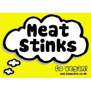 Meat Stinks (Yellow) Sticker