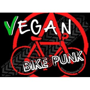 Vegan Bike Punk Sticker