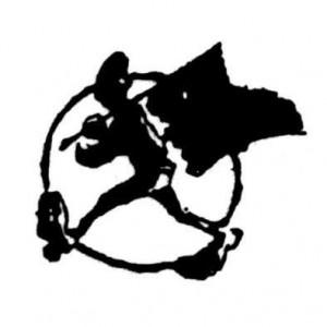 108 Anarcho flag waver Badge