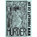 Fish Murder sticker