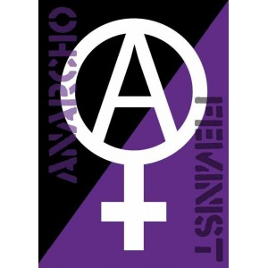 Anarcha feminist sticker
