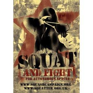 Squat and Fight sticker