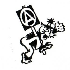 163, Wildcat Anarchist Badge by D. Rooum