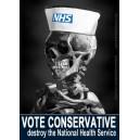 Vote Conservative Destroy the NHS sticker