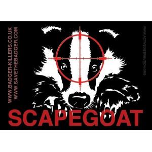 Badger scapegoat sticker