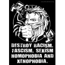 Destroy Xenophobia sticker