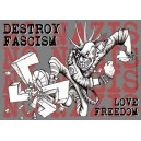 Destroy Fascism Love Freedom sticker