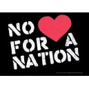 No Love for a Nation sticker