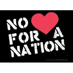 No (love) for a Nation Postcard