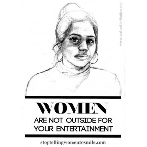 Women are not your entertainment sticker