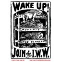 Wake Up! join the IWW sticker