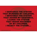 I Denounce the System sticker