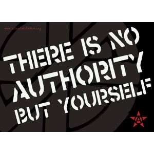 There is no authority but yourself, sticker