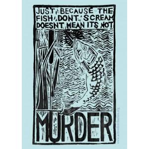 Fish Murder sticker