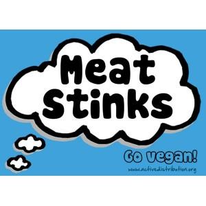 Meat Stinks (Blue) Sticker