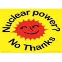 Nuclear Power No Thanks sticker