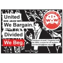Divided We Beg ....... sticker
