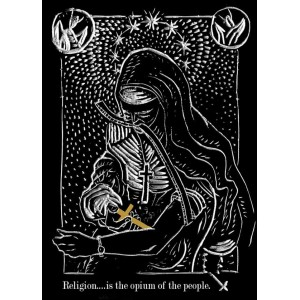 Religion is the opium of the people sticker