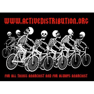 Active Distribution Skeleton Bike Posse sticker