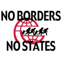 No Borders No States Sticker