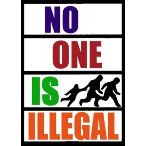 No one is illegal sticker