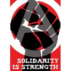Solidarity is Strength sticker