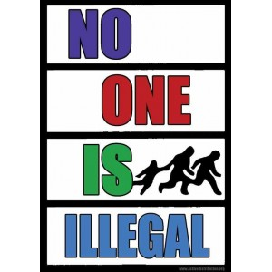 No One is Illegal Postcard