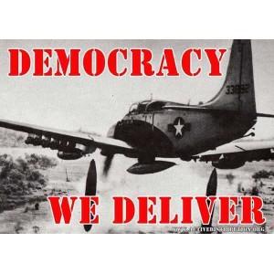 Democracy We Deliver sticker