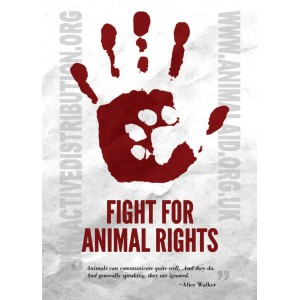 Fight for animal rights.. sticker