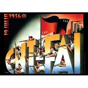 CNT FAI poster sticker