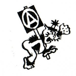 163, Wildcat Anarchist Badge by D. Rooum