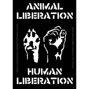 Animal Liberation Human Liberation sticker