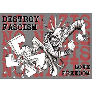 Destroy Fascism Love Freedom sticker