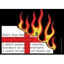 Burn the Flag sticker