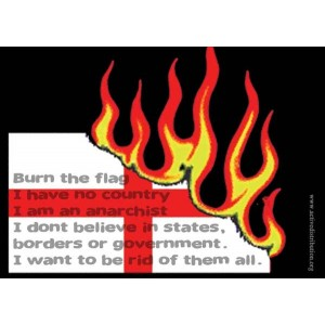 Burn the Flag sticker