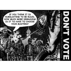 Don't Vote sticker