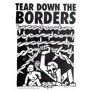 Tear Down the Borders sticker