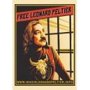 Free Leonard Peltier poster sticker