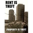 Rent is Theft sticker