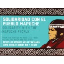 Mapuche solidarity sticker