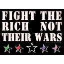 Fight the Rich not their Wars sticker