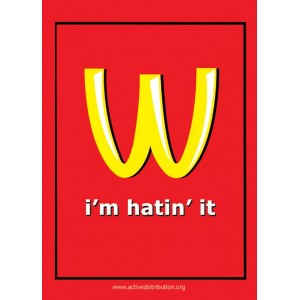 I'm Hatin' Mcdonalds sticker