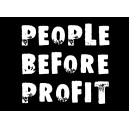 People before Profit ... sticker