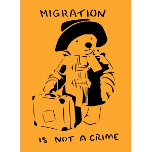 Migration is not a crime ... sticker