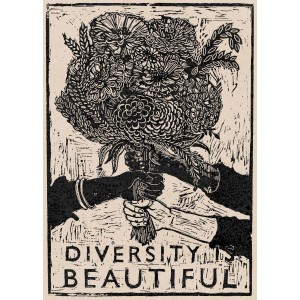 Diversity is Beautiful Sticker