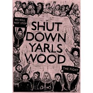 Shut down Yarlswood Sticker