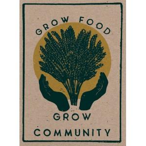 Grow Food, grow community sticker