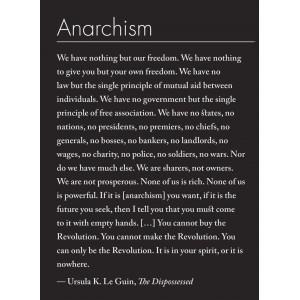 Anarchism Ursula LeGuin sticker