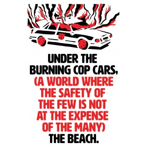 Under the burning cop cars sticker