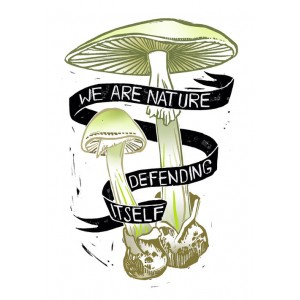 We are nature defending itself sticker